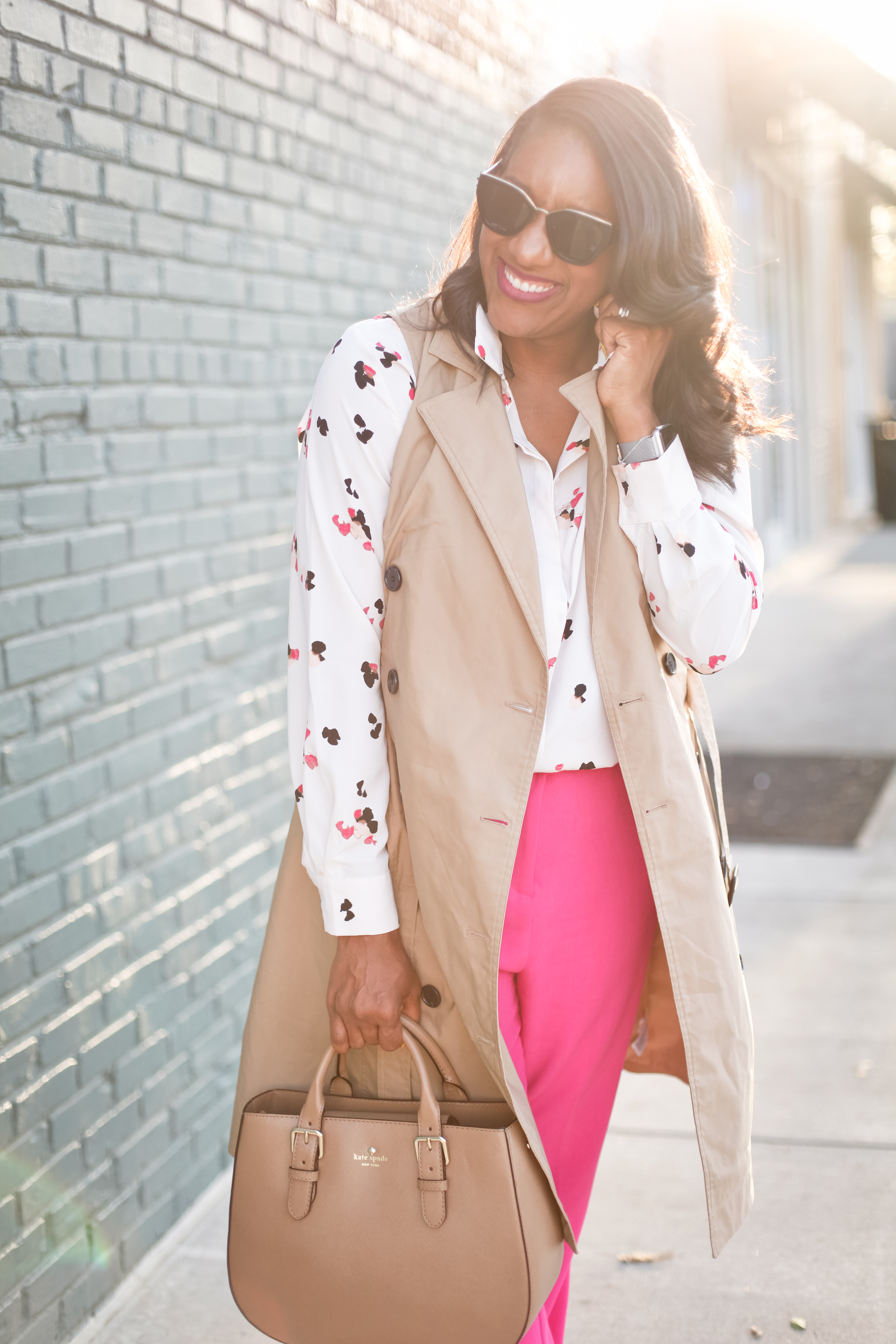 Trench-Vest-Fuchsia-Trousers-12