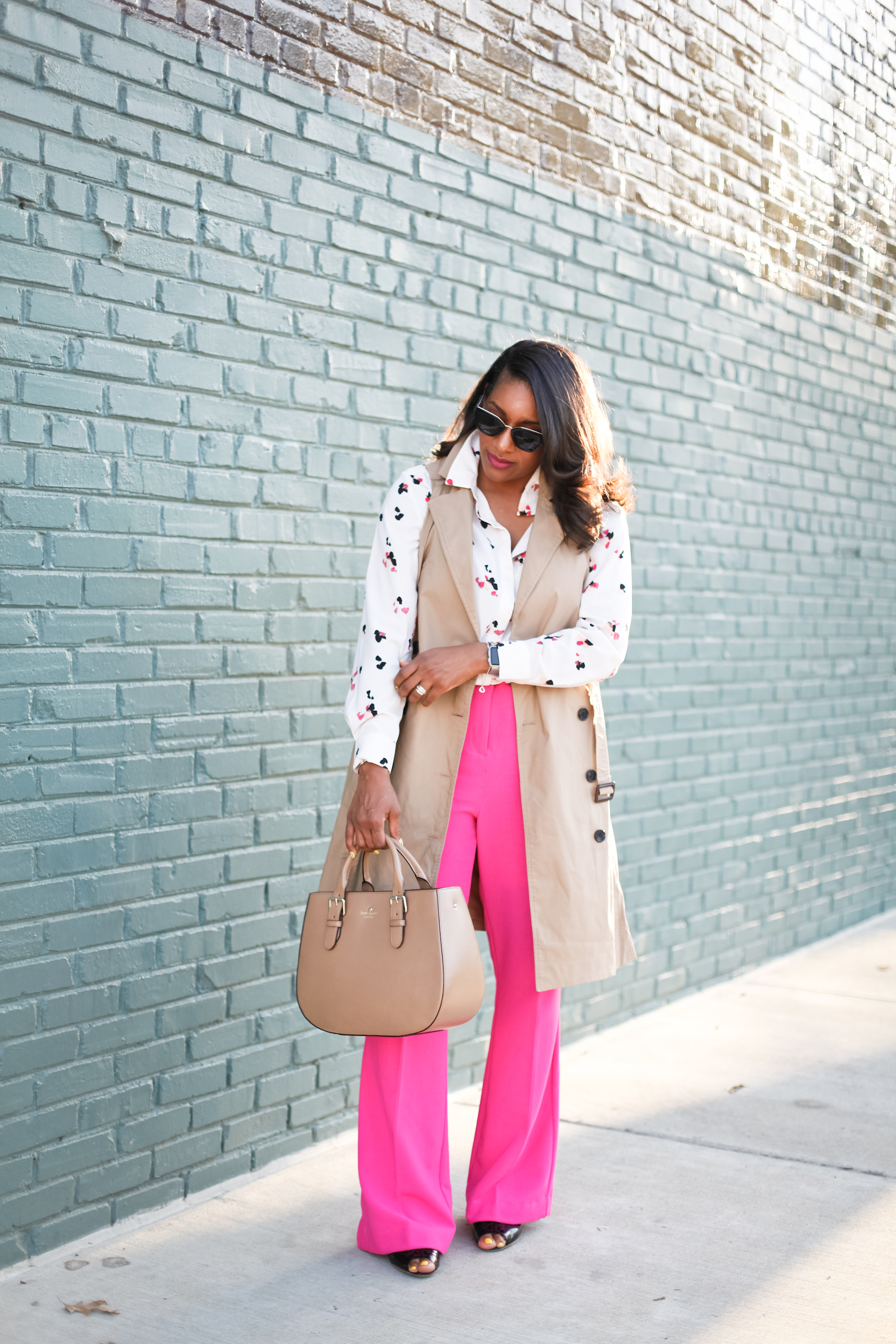 Trench-Vest-Fuchsia-Trousers-8