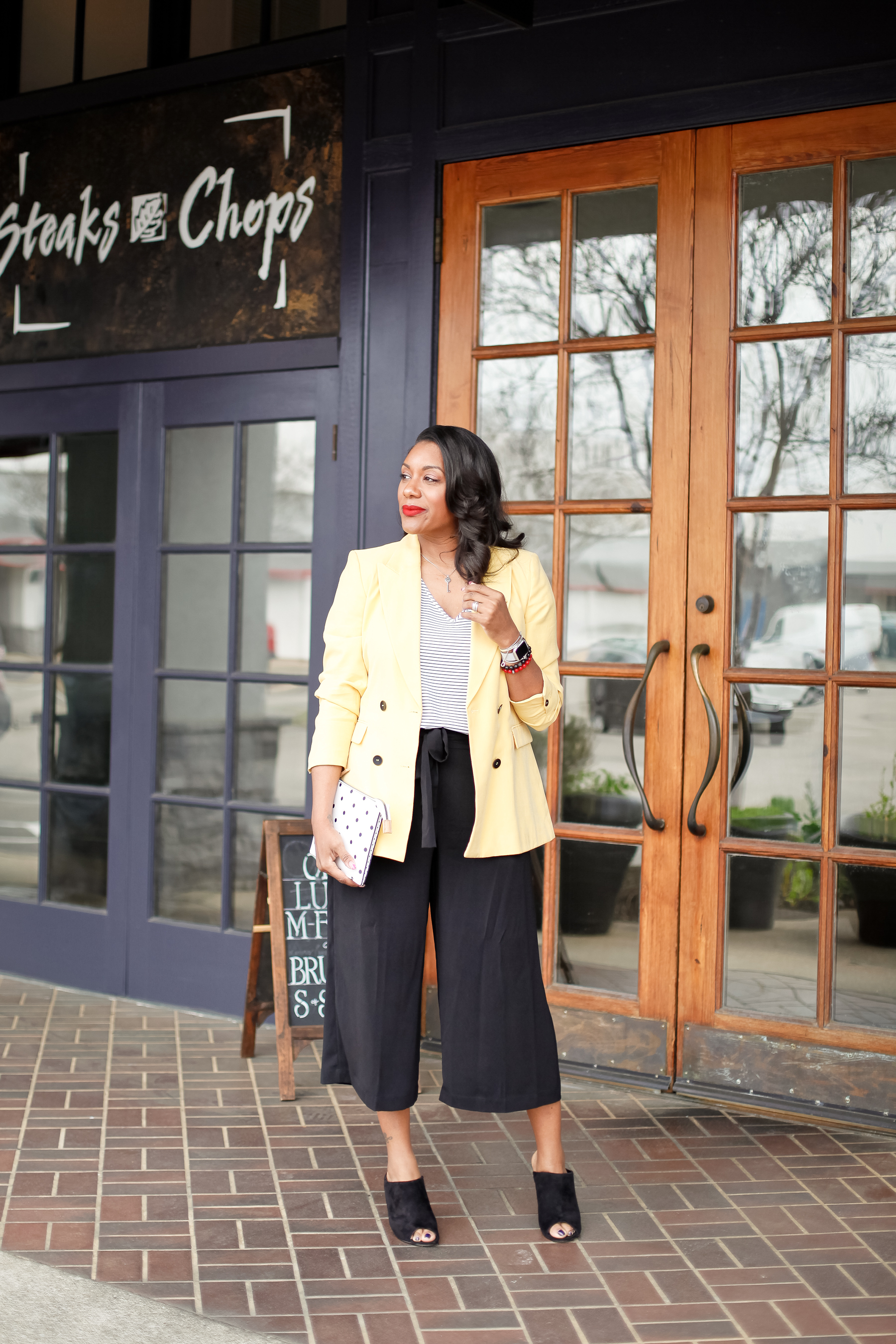 Yellow-Blazer-Black-Culottes-1