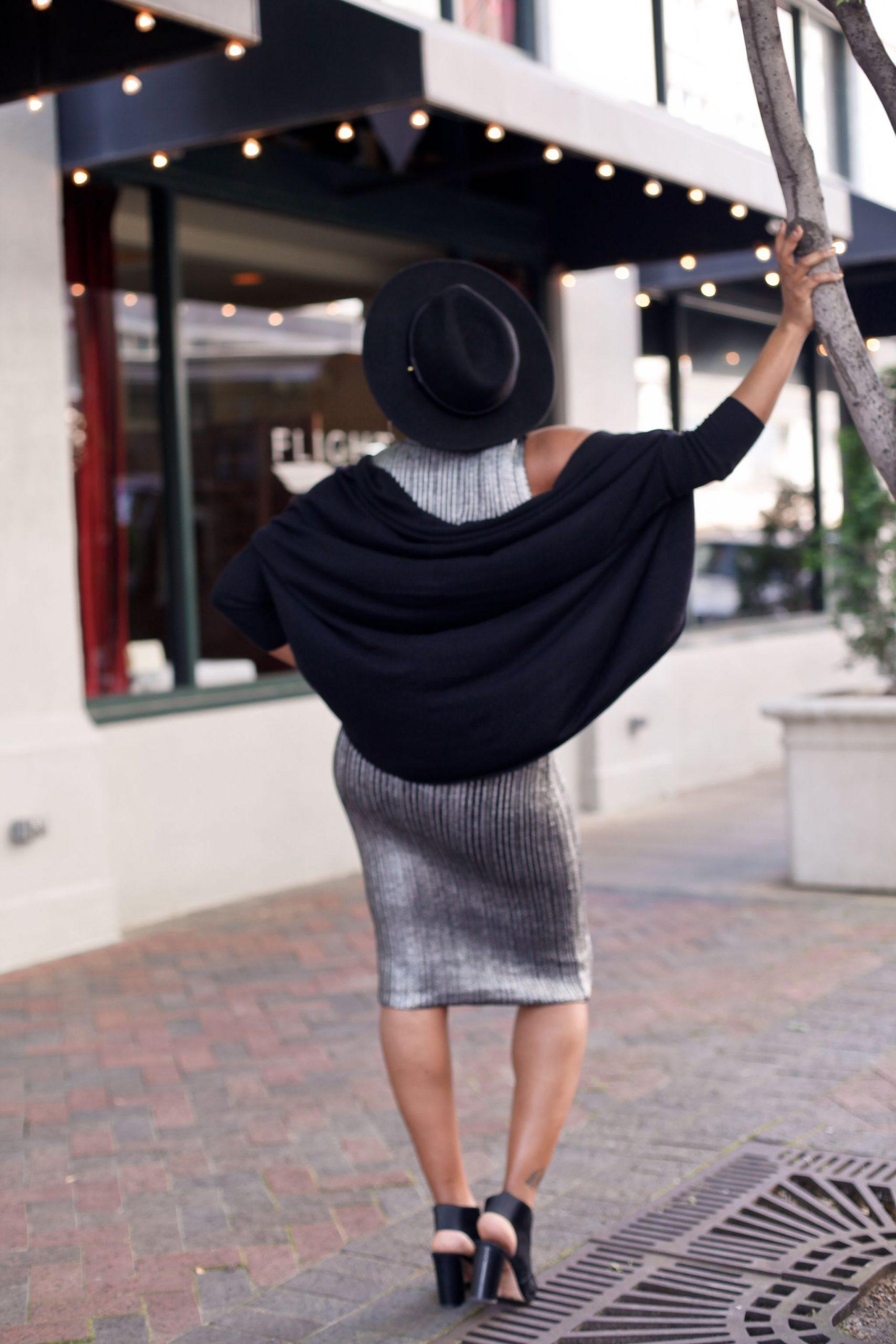 Silver Bodycon Black Sweater-17